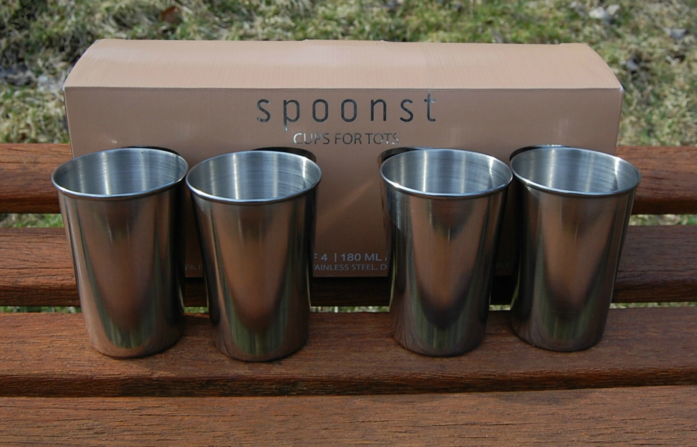 4cee3122740 Spoonst Stainless Steel Cups for Kids and Toddlers, 6 oz. (4 pack) | Cups  for Tots