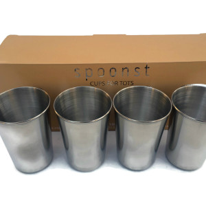 Spoonst Cups for Tots Stainless Steel Tumblers for Toddlers and Kids